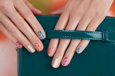 Zig Zag Patterned Nails by JINsoon | Sephora Beauty Board #Sephora #nailart
