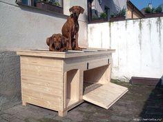 Möbel mit seinen eigenen Händen. Häuschen für die Hunde (22) (700x525, 355KB)