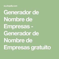 Generador de Nombre de Empresas - Generador de Nombre de Empresas gratuito