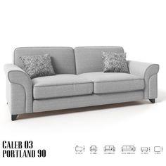 Caleb 3 sz kanapé szürke