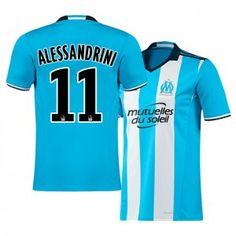 Marseille Third 16-17 Season Blue #11 ALESSANDRINI Soccer Jersey [I170]