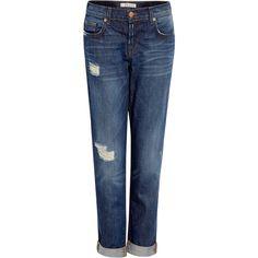 J Brand Denim Aiden Distressed Boyfriend Jeans ($351) ❤ liked on Polyvore