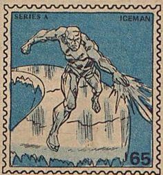 Marvel Value Stamp - Iceman Iceman Marvel, Marvel Comics, Marvel Heroes, Comic Books Art, Comic Art, Avengers Story, Marvel Comic Character, Marvel Entertainment, Amazing Spider