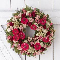 Zinnia Bouquet Wreath......except yellow