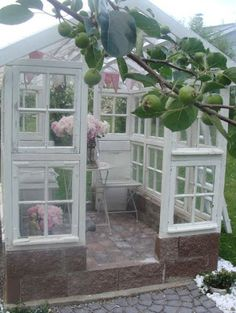 Have a look at our online site for a little more all about this delightful beautiful greenhouse Window Greenhouse, Backyard Greenhouse, Greenhouse Plans, Backyard Sheds, Garden Yard Ideas, Garden Spaces, Lawn And Garden, Home And Garden, Garden Villa