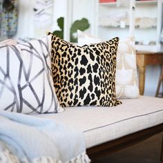 """Leopard print pillow named """"Bianca""""  -[Click image to shop] we ship worldwide. www.tonicliving.com"""
