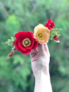 Spring Felt Flower Crown, Poppy Felt Flower Headband, Felt Flower Crown, Photo Prop, Birthday Headband Crown, Flower Girl Crown by HeartfeltBlooms on Etsy https://www.etsy.com/listing/589681158/spring-felt-flower-crown-poppy-felt
