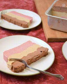 Vegan Neapolitan Ice Cream Cake    http://fooddoodles.com/2011/05/20/vegan-layered-neapolitan-ice-cream-cake/#