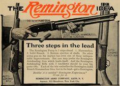 1909 Ad Remington Solid Breech Pump Action Shotgun