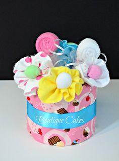 Candyland Girl Diaper Cupcake