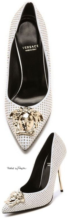 Regilla ⚜ Versace - now why ruin a great pair of shoes by adding a hood ornament???  C'mon!!!
