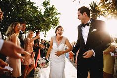 Rice down the dress! A funny moment at this wedding in Taormina Sicily at San Domenico Palace.
