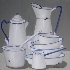 style & iconic <3 blue & white enamel
