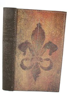 Fleur de Lis Leather Journal - Amazing Leather Products