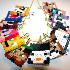 Stampylonghead Stampylongnose & Friends Inspired MEGA-Necklace!  Made for the ULTIMATE gamer fan! THIRTEEN (13) Characters!!!