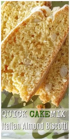 A sweet crunchy biscotti. You won't believe this amazing Cake Mix Biscotti recipe is just like Italian Almond Biscotti! An easy dessert recipe! Cake Mix Cookies, Cake Pops, Cookies Et Biscuits, Cupcakes, Biscotti Cookies, Fig Cookies, Amaretti Cookies, Almond Biscotti Recipe Italian, Easy Biscotti Recipe