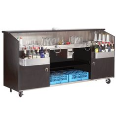"""Advance Tabco R-8-B High Volume Portable Bar with Stainless Steel Work Area - 95 3/4"""" x 24 1/2"""""""