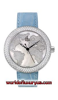 Jacob & Co. - Crystal Collection - CR47WW-4 (Stainless Steel / Mother of pearl dial Dial / Blue Leather) - See more at: http://www.worldofluxuryus.com/watches/Jacob-and-Co/Crystal/CR47WW-4/328_767_5820.php#sthash.6dhYcDMj.dpuf