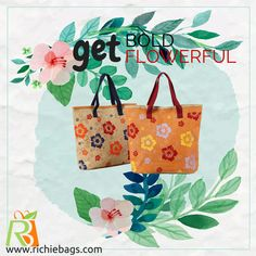Fresh fashion is all about our #floralbags. It's swanky and #naturefriendly. We have a unique collection of jute & cotton made #handbags.