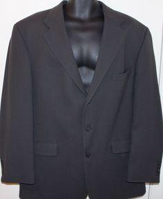 Mens Oscar De La Renta Sportcoat Blazer Jacket Gray Size 46R #OscarDeLaRenta #ThreeButton