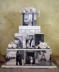 Paris themed photo-cake