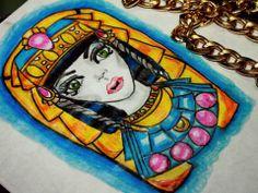 Egyptian girl Design tattoo #cute #girl #gold #colors #ejipcia