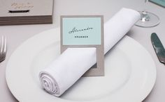 Great napkin holders, name tags, place cards