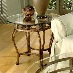 "Scottsdale End Table W/ Glass Top model# 40384R Scottsdale End Table W/ Glass Top	37 lbs	26"" W X 26"" D X 22"" H X 26"" L"