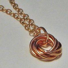 Copper Love Knot Pendant Necklace   LaraJordanJewelry - Jewelry on ArtFire