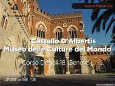 #invasionidigitali Castello D'Albertis Museo delle Culture del Mondo - Genova: mercoledì 24 aprile dalle ore 10:00 alle 13:00 Invasore: Maria Camilla De Palma.