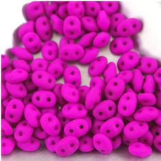 Your place to buy and sell all things handmade Super Duo Beads, How To Make Beads, Jewelry Making Supplies, Bead Weaving, Hot Pink, My Etsy Shop, Electric, Neon, Shapes