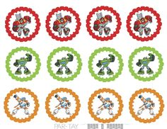 rescue bot cupcake toppers free printables