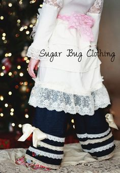 The Penny Tuck Pants PDF Pattern 12/24m6/7Y by TheMeanPrincess, $9.95