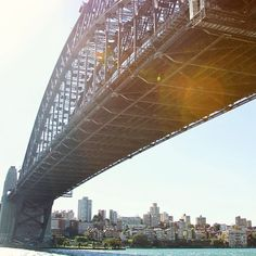 Sharing a Sunny Sydney (throwback pic) for you guys this morning! Another view of the Sydney Harbour Bridge while my friends and I joined a city tour. Have an awesome day ahead!  #Sydney #sydneyharbourbridge #Australia #bridge #travel #tbt #throwback #traveldestinations #forbestravelguide #livetravelchannel by divinetravels http://ift.tt/1NRMbNv