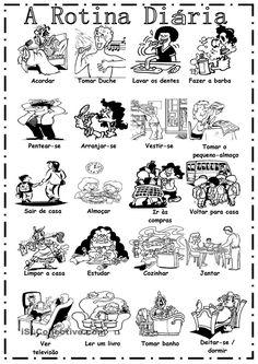 Portuguese vocabulary - A Rotina Diária / Daily routine