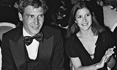 """harryandcarrison: """"""""Harrison Ford and Carrie Fisher, Deauville Film Festival, France, """" """" Carrie Fisher Harrison Ford, Debbie Reynolds Carrie Fisher, Star Wars Cast, Star Trek, Han And Leia, Celebrities Then And Now, Star Wars Love, The Empire Strikes Back, Indiana Jones"""
