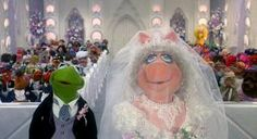 The Muppets Take Manhattan: After a huge Broadway number, Kermit and Miss Piggy finally tie the knot after all these years! Photo courtesy of Sony Pictures Kermit And Miss Piggy, Kermit The Frog, Jim Henson, Wedding Dream Meaning, Wedding Dreams, Got Married, Getting Married, The Muppet Movie, Muppets Most Wanted
