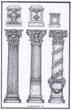 Capiteles  Sketch design  Pinterest  Architecture Drawings and