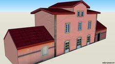 Salamanca Train Station из бумаги, модели бумажные скачать бесплатно. Papercraft, paper model free download template.