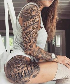 Sleeve tattoo for women