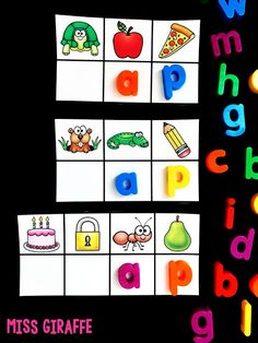 Miss Giraffe's Class: Must Have Short Vowel Word Family Games