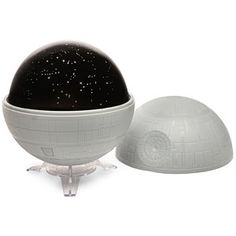 ♥  Nerd Core Fun ♥ Transform your dark room into the Star Wars galaxy  Tabletop planetarium looks like the infamous Death Star  Projects the Star Wars galaxy and planet names or Earth's night sky  Includes a fun and informative learning guide