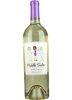 Middle Sister Moscato Sweet    sweet/fruity but such a cute bottle and cute name ... Might have to try this because I am the middle sister.