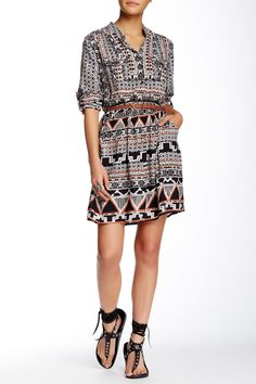 Angie | Long Sleeve Printed Dress | Nordstrom Rack  Sponsored by Nordstrom Rack.