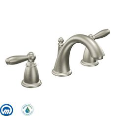 View the Moen T6620 Double Handle Widespread Bathroom Faucet from the Brantford Collection (Less Valve) at FaucetDirect.com.