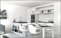 ikea kitchen designs layouts, 2 White kitchen diner