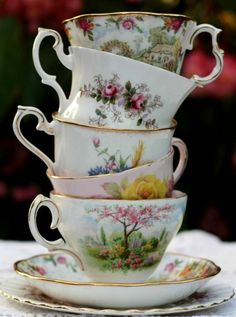 Tea cup stack love...