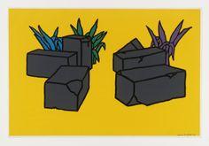 Artwork page for 'Ruins', Patrick Caulfield, 1964 Art Design, Graphic Design Art, Roy Lichtenstein Pop Art, James Rosenquist, Claes Oldenburg, Tate Britain, Jasper Johns, British, Photorealism