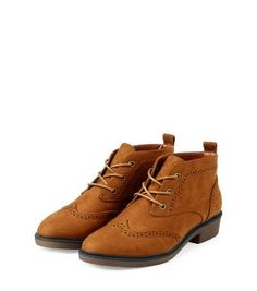 With dresses, jeans or skirts, our Teens Tan Lace Up Brogue Ankle Boots always look stylish. £24.99 #newlook #shoes