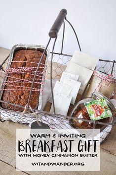 Fun holiday gingerbread pancakes and mimosas diy breakfast gift warm breakfast basket gift idea diy solutioingenieria Image collections
